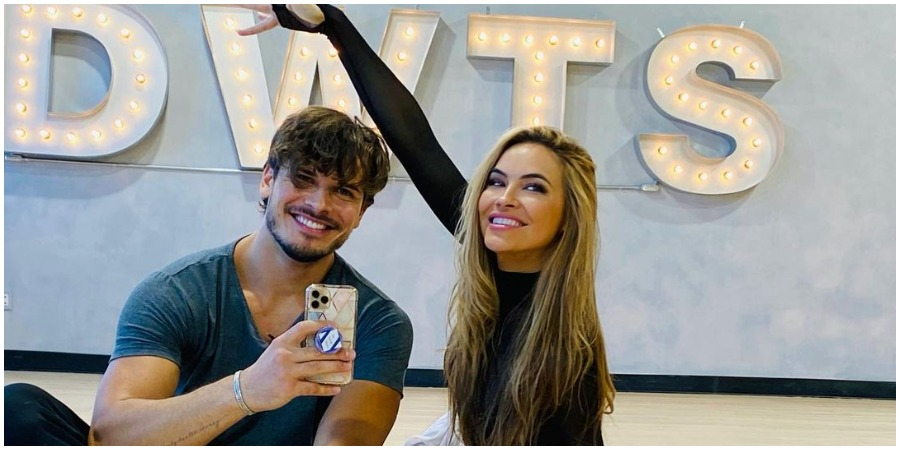 dwts Chrishell Stause and Gleb Savchecnko on 'Dancing With The Stars.' (Photo by Chrishell Stause/Instagram)