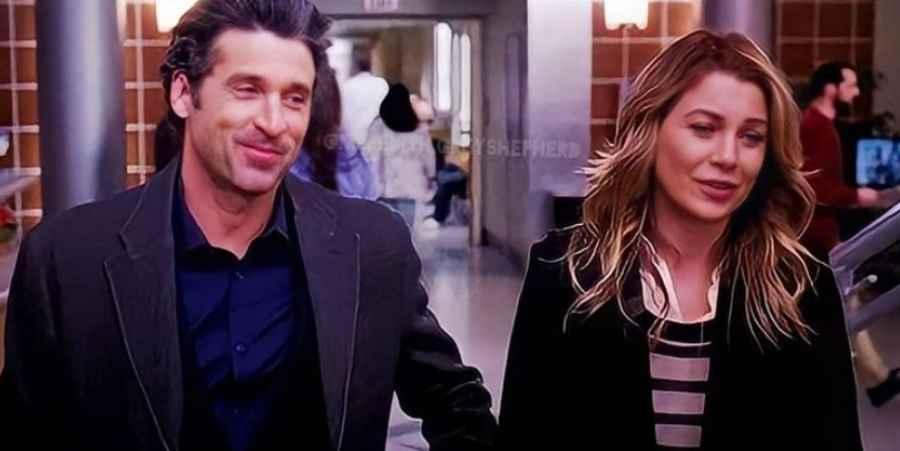 Derek Shepherd (Patrick Dempsey) and Meredith Grey (Ellen Pompeo) of Grey's Anatomy