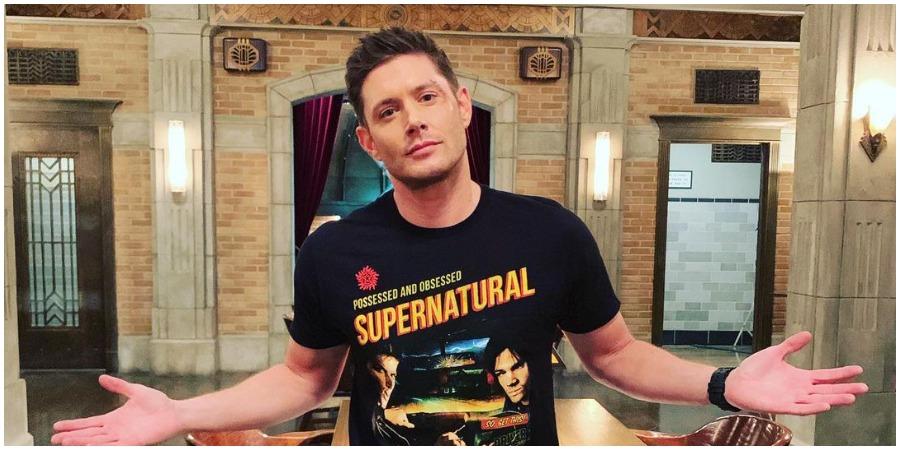 Jensen Ackles on the set of 'Supernatural.' (Photo by Jensen Ackles/Instagram)