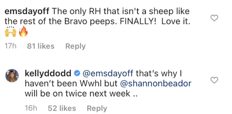 kelly dodd instagram comments