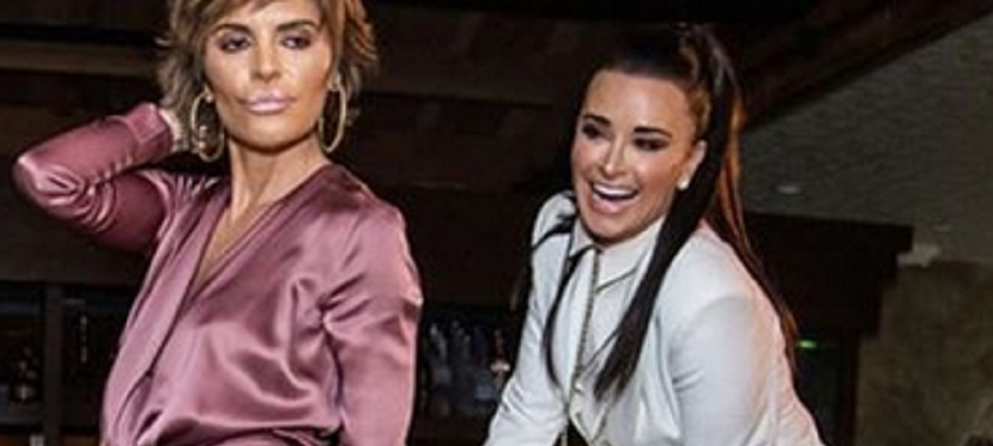 kyle richards and lisa rinna dancing instagram post