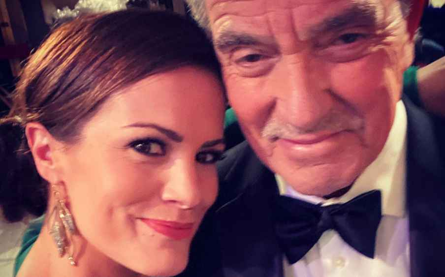 Melissa Claire Egan and Eric Braeden of The Young and the Restless