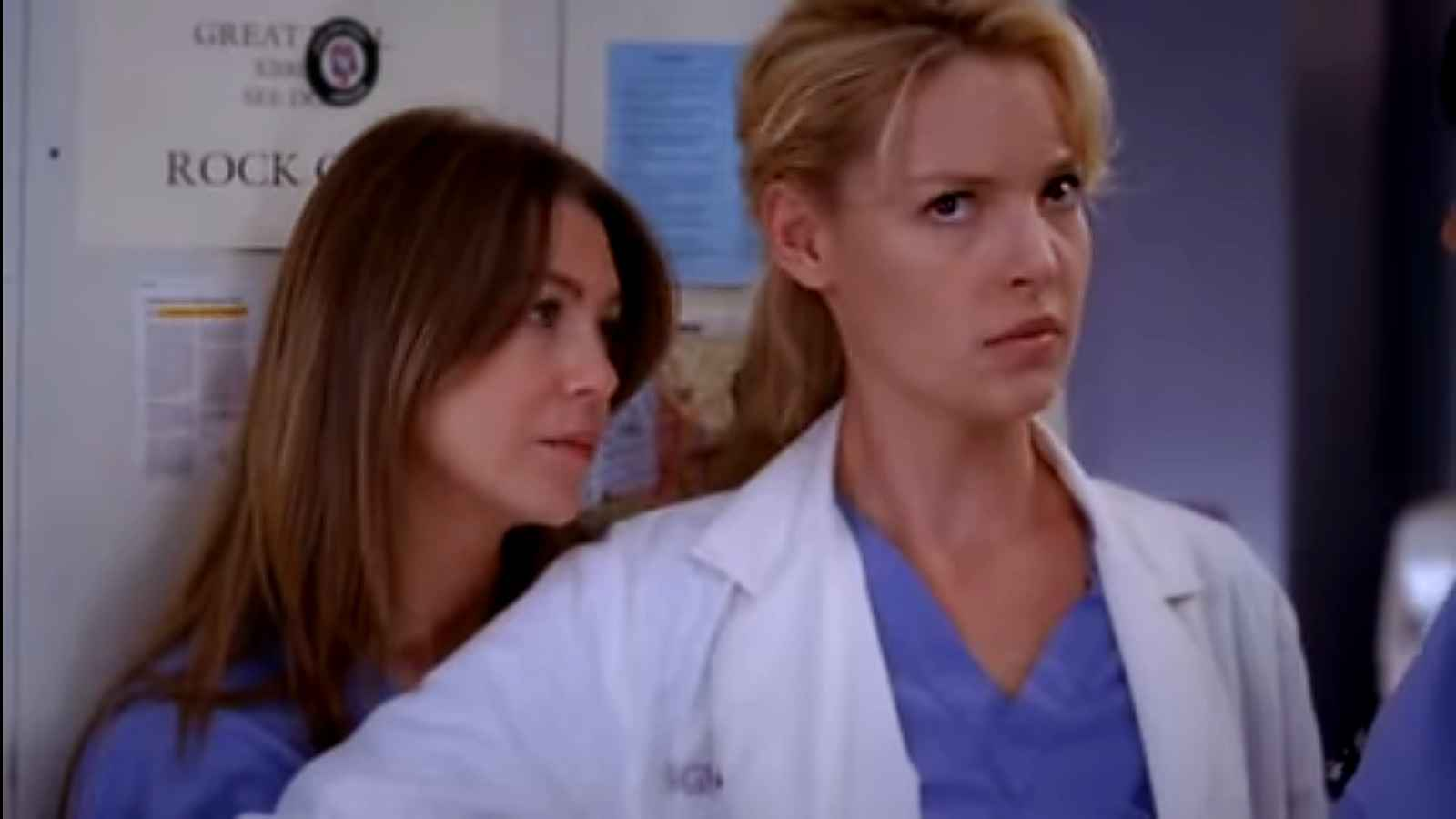 Grey's Anatomy stars Ellen Pompeo and Katherine Heigl