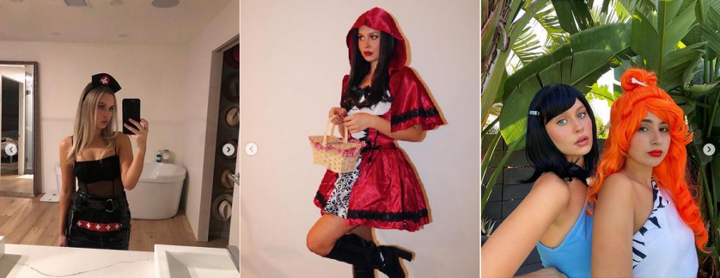 natasha bure halloween instagram posts