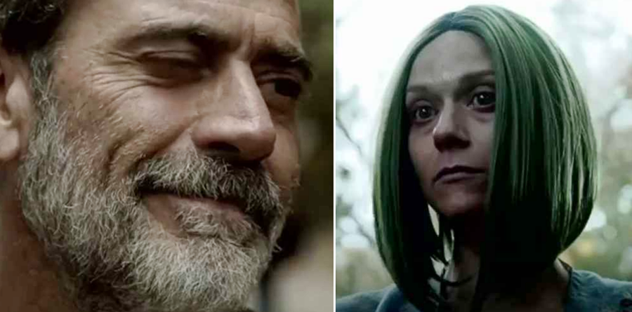 Negan and his wife Lucille on The Walking Dead