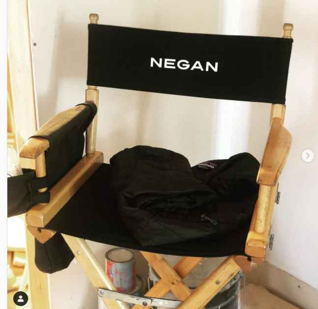 Jeffrrey Dean Morgan's chair on the set of The Walking Dead
