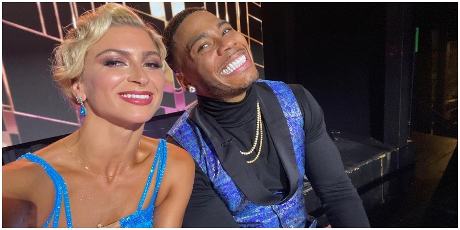 Nelly and his partner Daniella on Dancing With The Stars. (Credit: Nelly/Instagram)