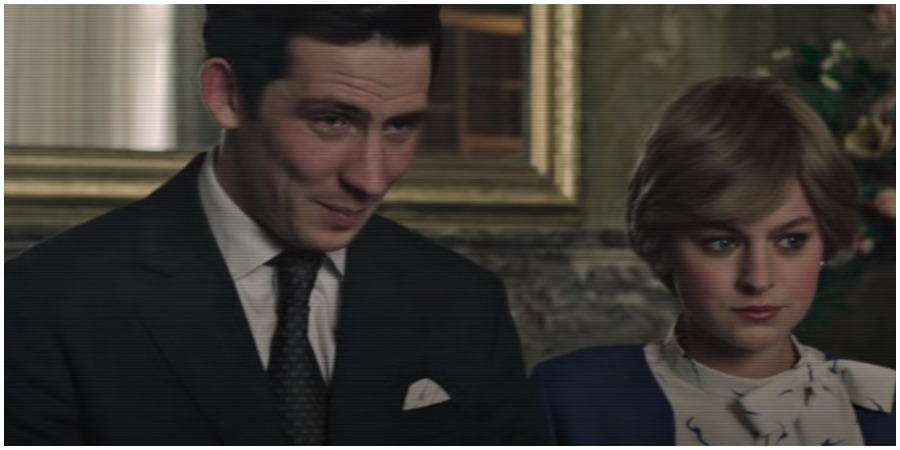 The Crown's Prince Charles and Diana. (Photo by Netflix/YouTube)