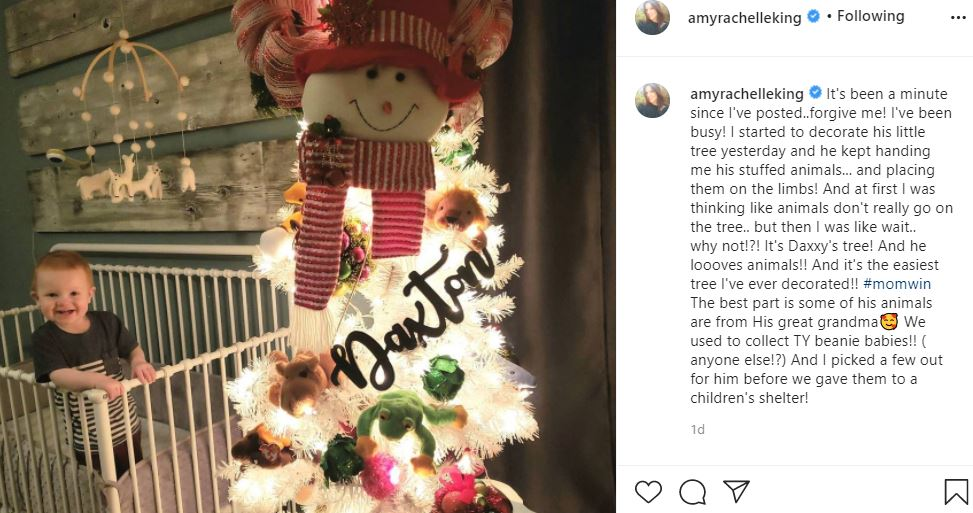 Amy King Daxton Christmas tree