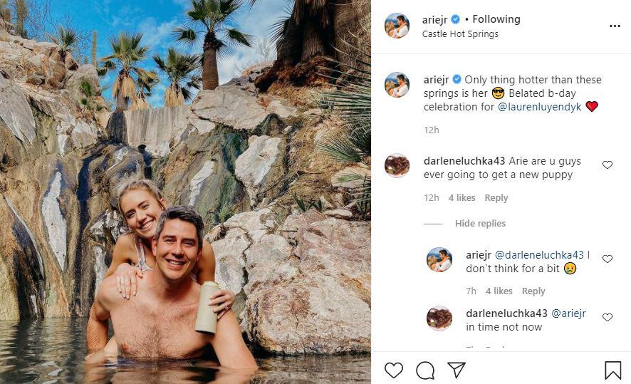 Arie Luyendyk and Lauren Castle Hot Springs
