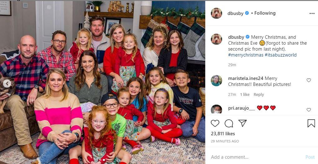Danielle Busby family Christmas