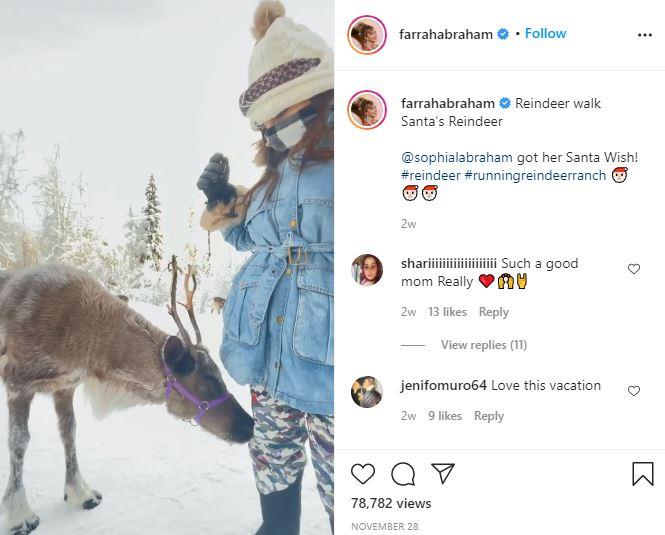 Farrah Abraham Sophia Reindeer