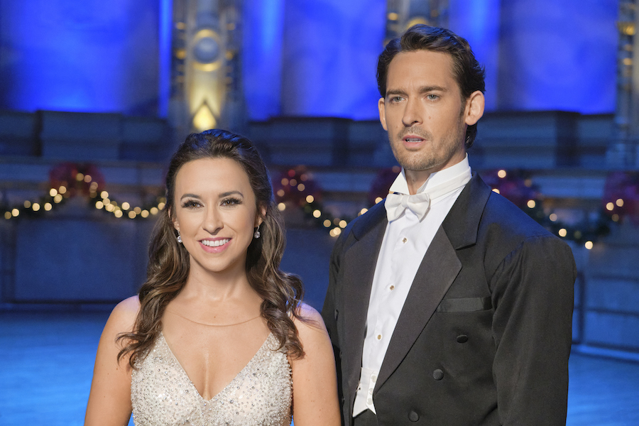 Hallmark movies make people feel better, Lacey Chabert, Will Kemp Credit: ©2020 Crown Media United States LLC/Photographer: Bettina Strauss