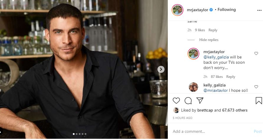 Jax Taylor assures fans they return to TV
