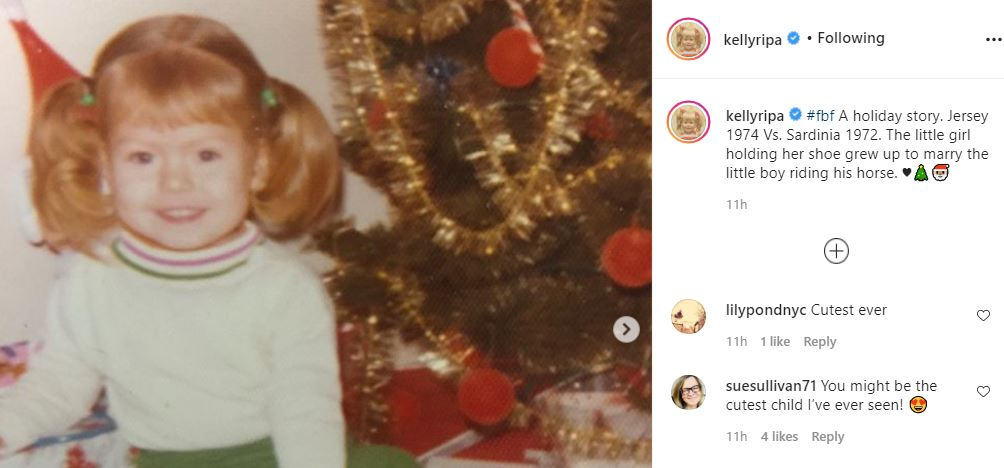 Kelly Ripa Adorable throwback photos
