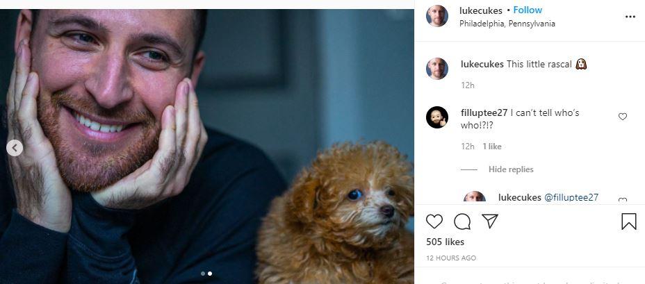 MAFS Luke Cuccurullo and his dog