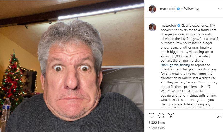 Matt Roloff Credit Card Fraud Victim