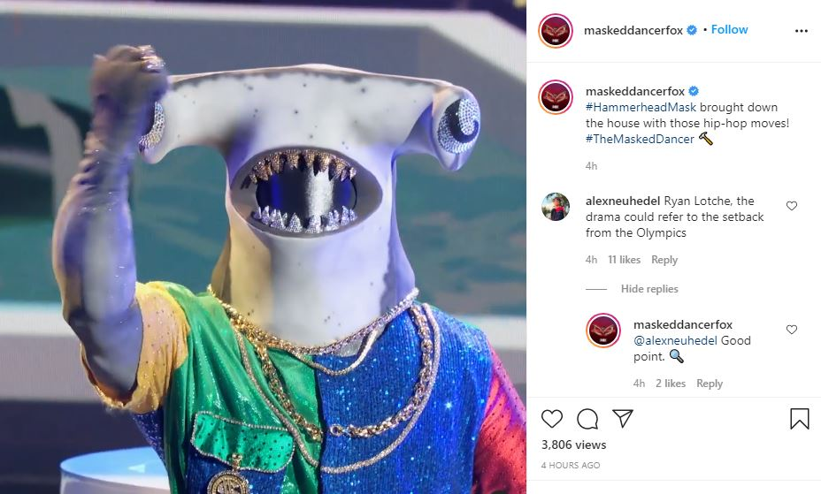 The Masked Dancer Hammerhead guesses