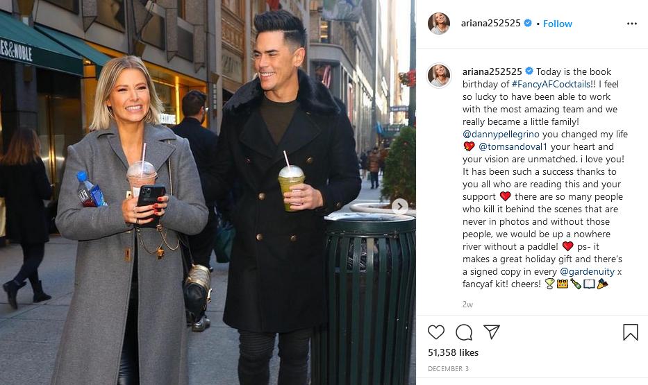 ariana madix and tom sandoval instagram post