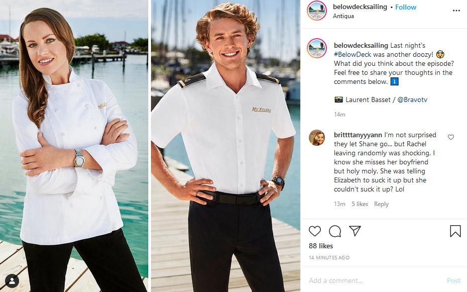 below deck instagram post