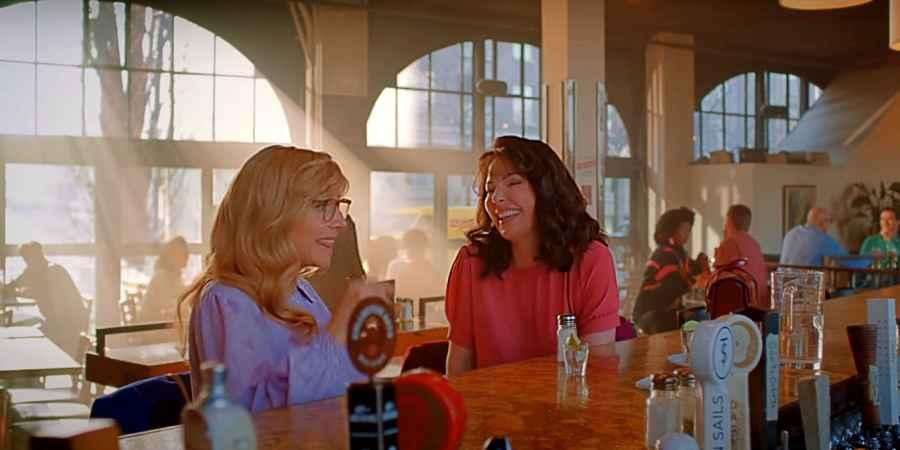 Katherine Heigl and Sarah Chalke in Firefly Lane on Netflix