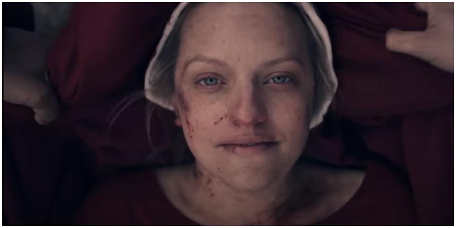 Elizabeth Moss in Season 4 of 'The Handmaid's Tale.' (Photo by Hulu/YouTube)