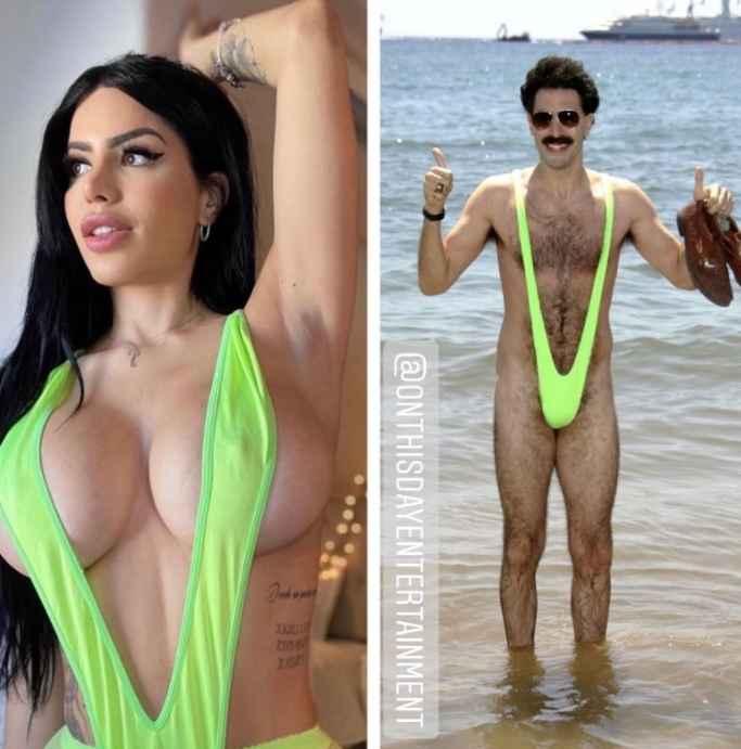 Larissa dos Santos Lima of 90 Day Fiance mocks Borat