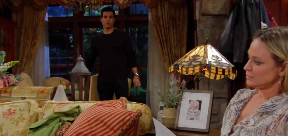 Sharon Newman (Sharon Case) and Nick Newman (Joshua Newman) on The Young and the Restless