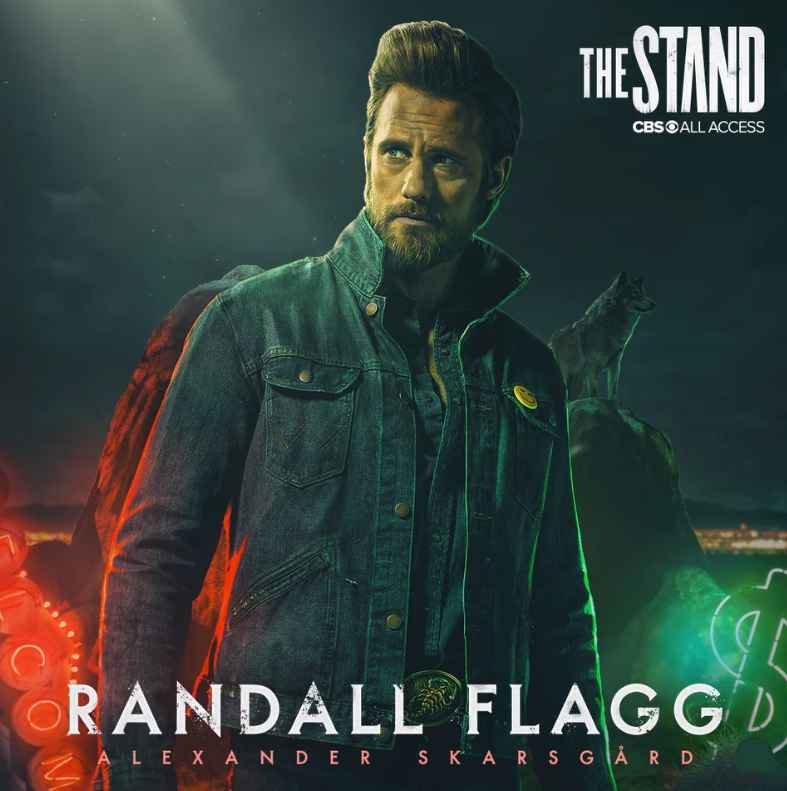 Alexander Skarsgard is Randall Flagg in the adaptation of Stephen King's The Stand