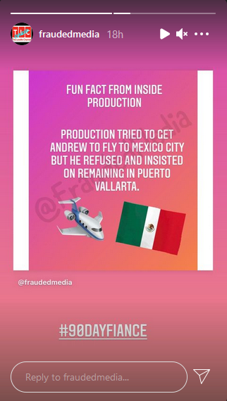 90 day fiance production instagram stories