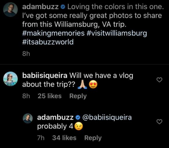 Adam Busby Vlog, New Vacay Content Hint