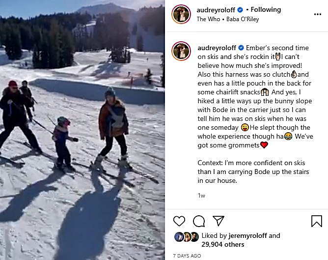 Audrey Roloff Fans Shocked That She Skied With Bode