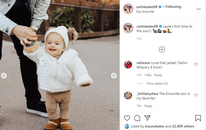 Carlin Bates Baby Layla First Zoo Visit
