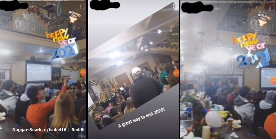 Duggar Family Roasted New Year Party