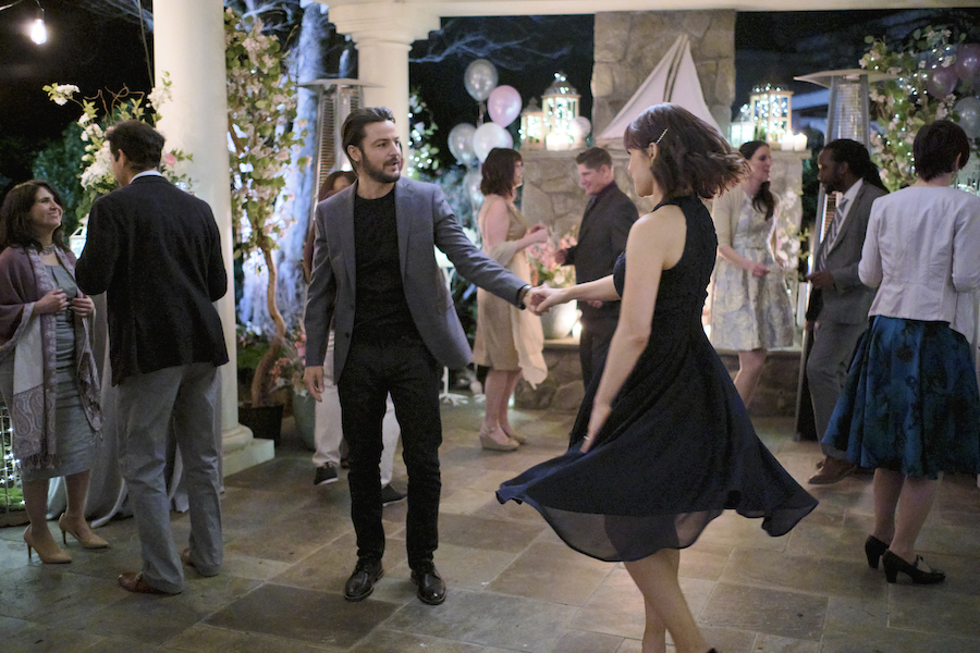 Elizabeth's engagement plans are thrown into disarray when her fiancée's free-spirited brother David returns home. David's unexpected influence prompts Elizabeth to question her life decisions. Photo: Tyler Hynes, Erin Krakow Credit: ©2021 Crown Media United States LLC/Photographer: David Astorga