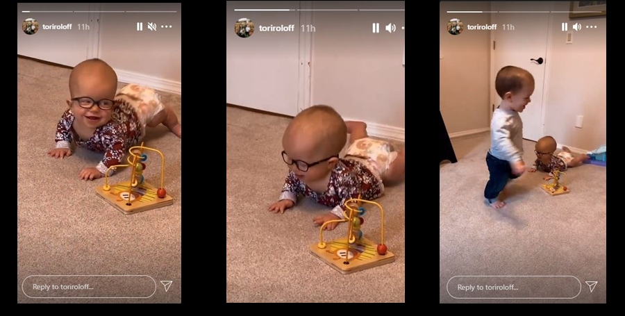 Lilah Roloff Tries Crawling to Play with Jackson