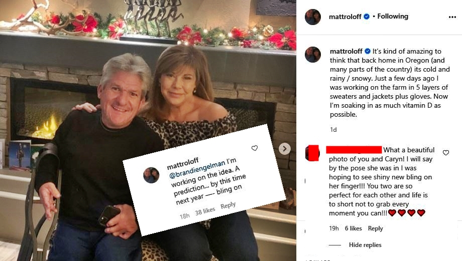 Matt Roloff Caryn Chandler Bling Ring Hint