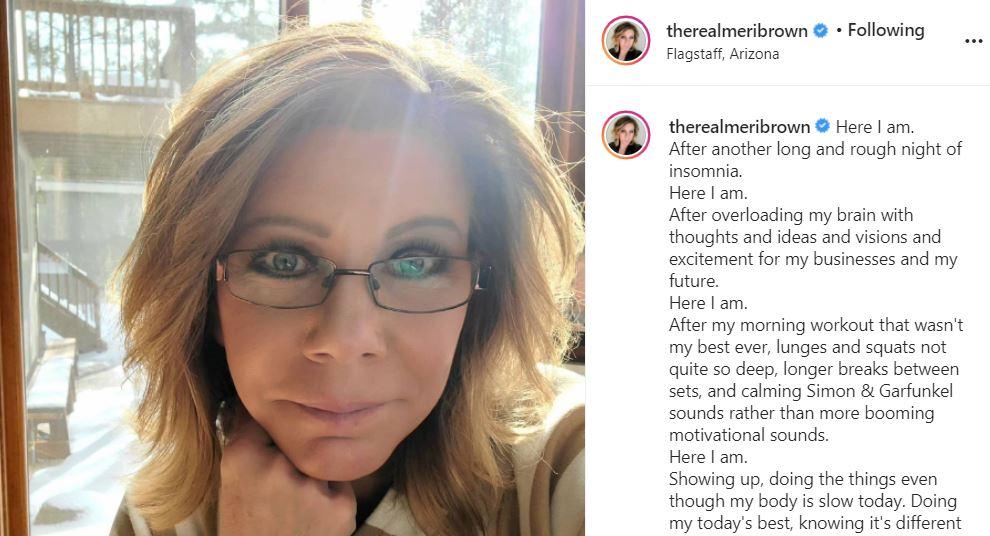 Meri Brown Tired Reveals Self-Discipline