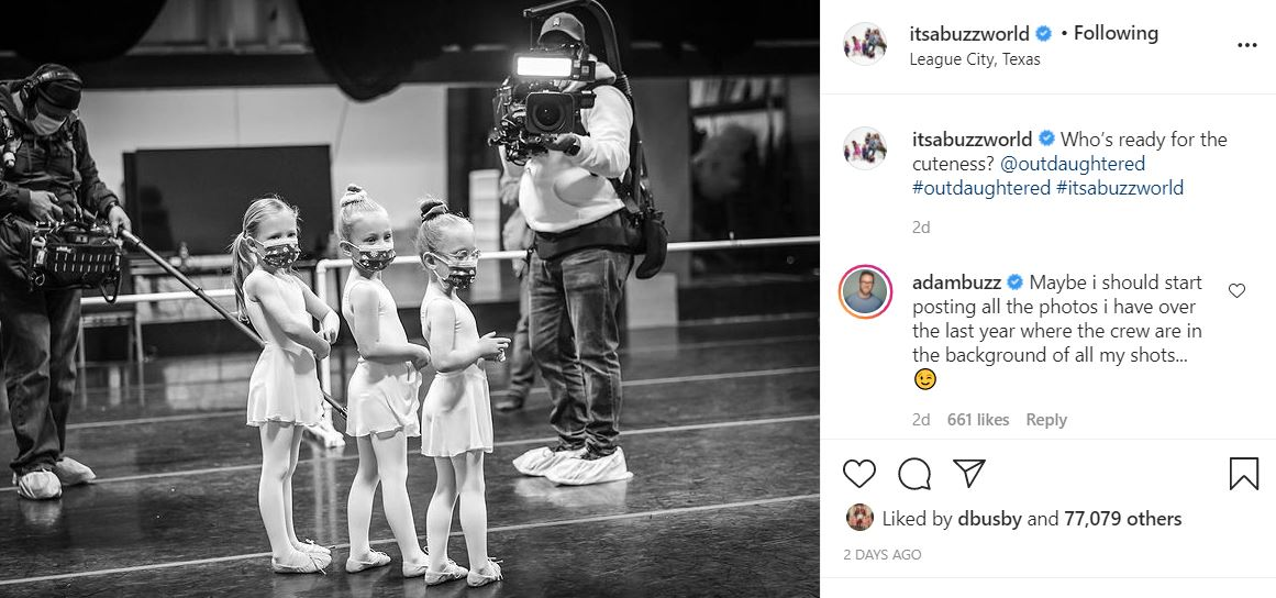 OutDaughtered crew film quints ballet