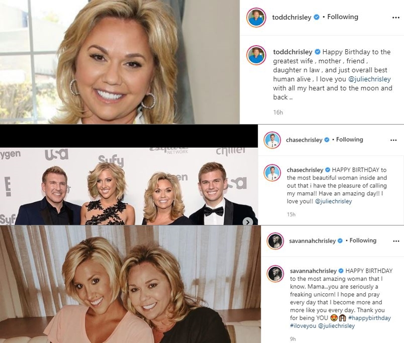 Savannah Chase Chrisley Plus Todd Julie Birthday