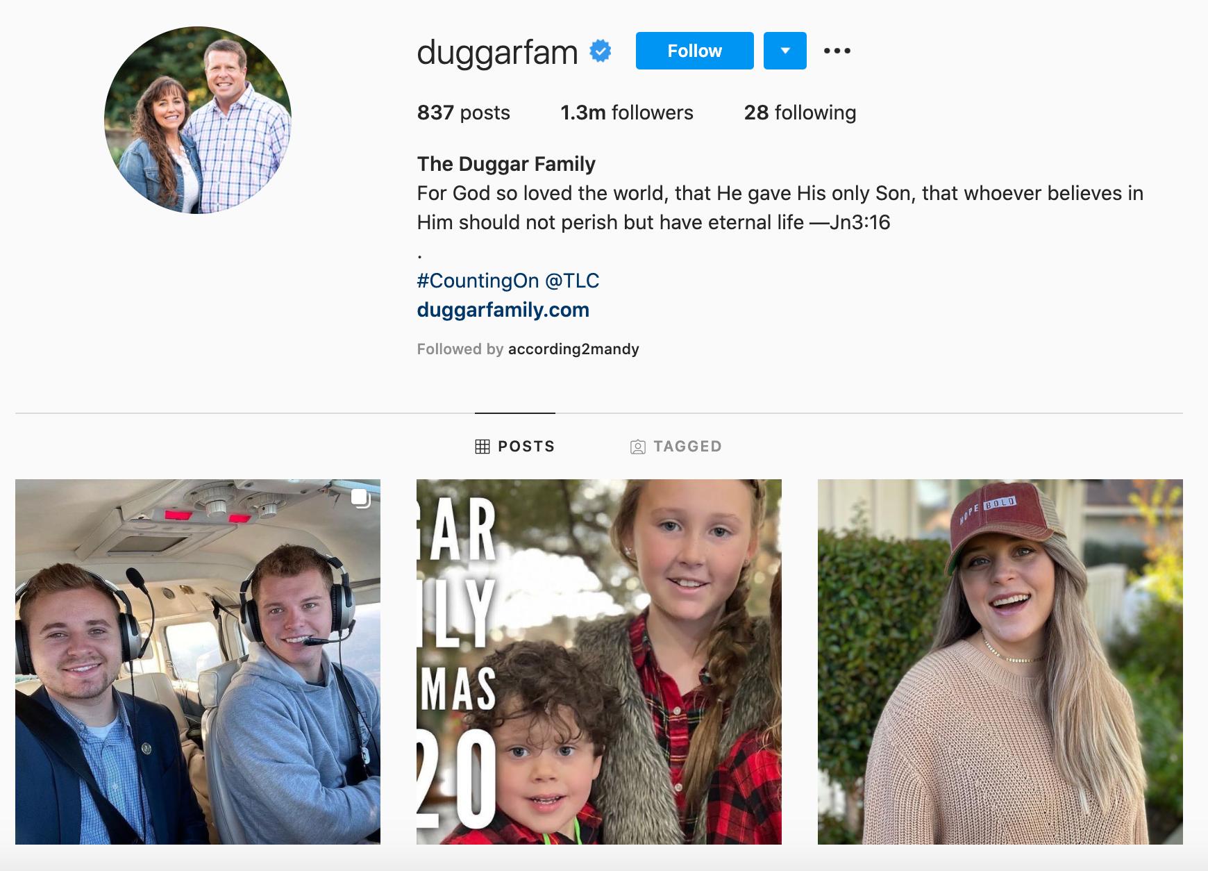 Duggar Family Instagram