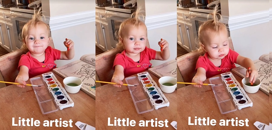 Sister Wives - Maddie Brown Brush Daughter Evie Brush Paints