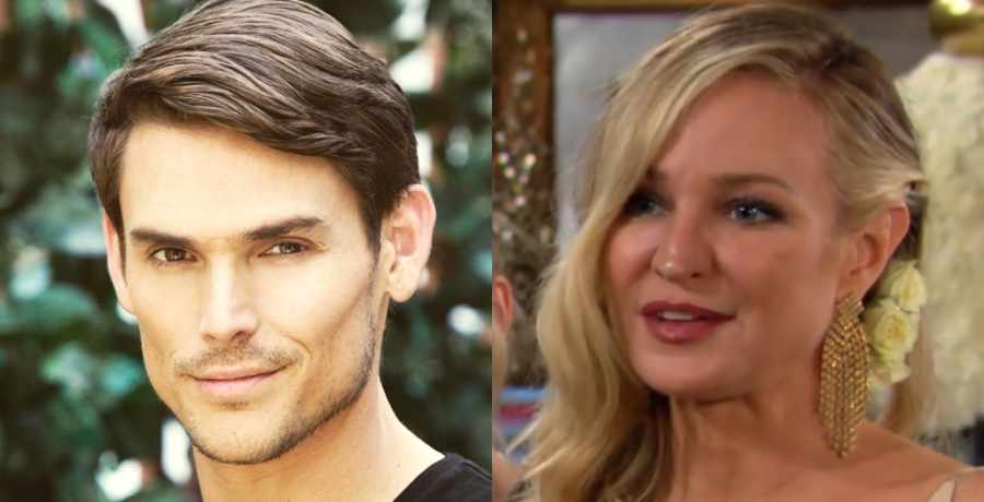 Sharon (Sharon Case) and Adam (Mark Grossman) of The Young and the Restless