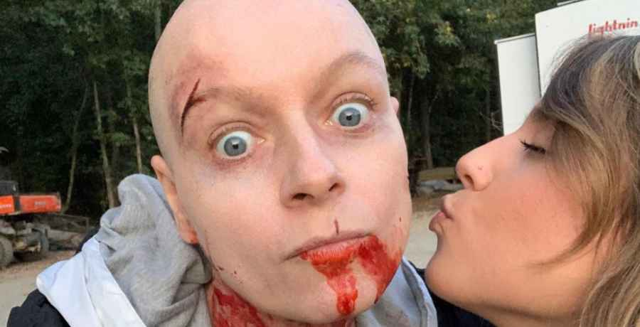 Samantha Morton plays Alpha on The Walking Dead and was rushed to hospital