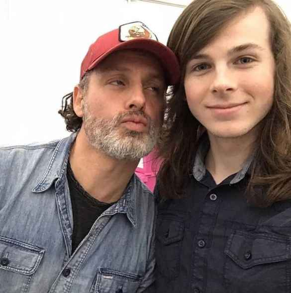Andrew Lincoln and Chandler Riggs of The Walking Dead