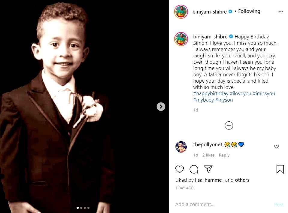 90 Day Fiance star Biniyam Shibre's first son, Simon