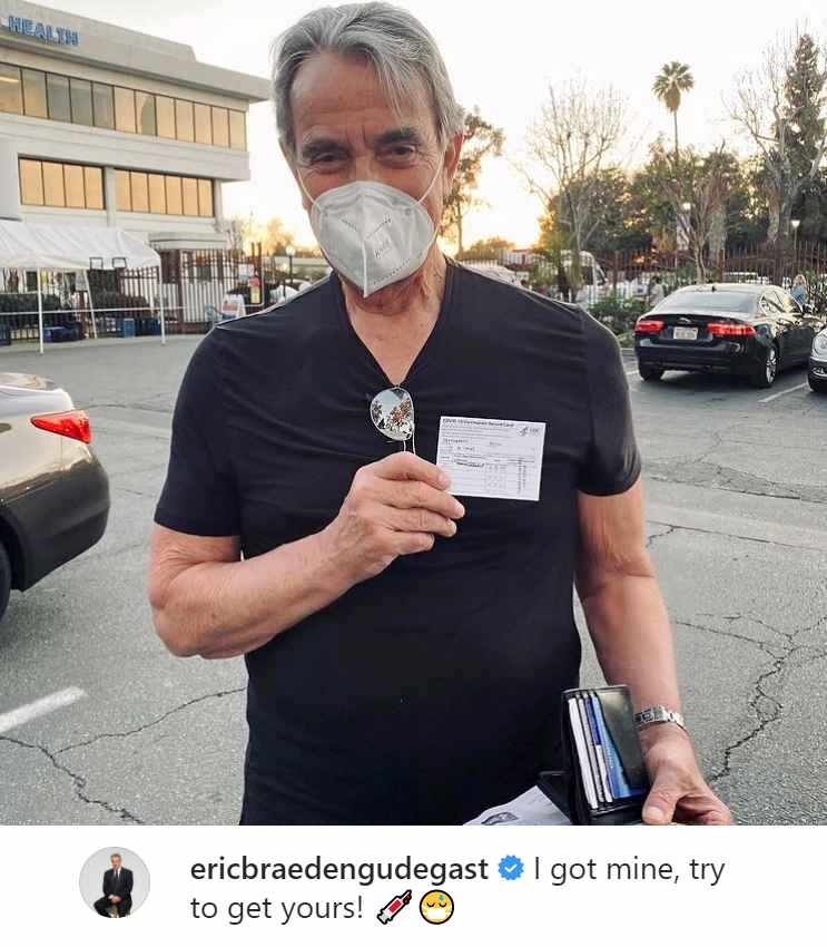 The Young and the Restless star Eric Braeden got his COVID-19 vaccination