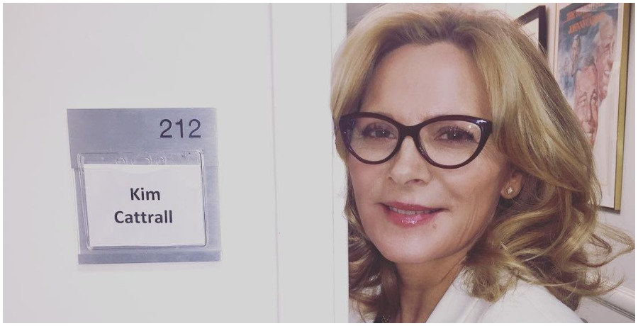 'Sex and the City' star Kim Cattrall backstage at 'The Today Show.' (Photo by Kim Cattrall/Instagram)