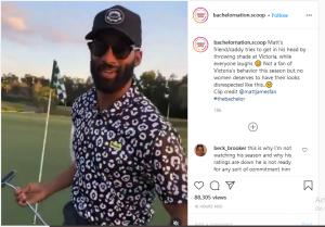 matt james playing golf