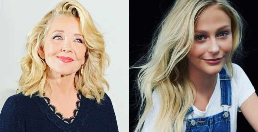 The Young and the Restless Nikki Newman(Melody Thomas Scott) and Faith Newman's (Alyvia Alyn Lind)
